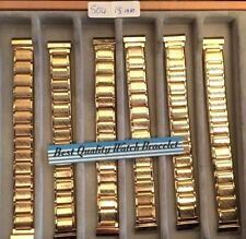 gents quality  gold plate expanding Watch bracelet  strap fits size 18 mm