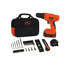 Black decker 144 cordless drill total home project kit