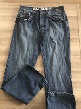 "Men's Smith & Jones Jeans Straight Leg 34W  34L Measures 33"" Inside Leg"