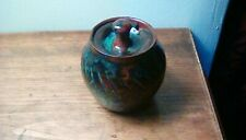 Stunning Studio Earthenware Pottery - Attractive Lidded Jam/Mustard Pot, no mark
