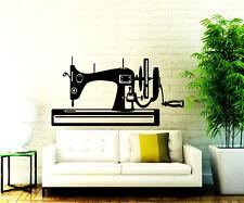Sewing Wall Decals Machine Vinyl Sticker Sew Studio Decal Decor Home Art Chu321