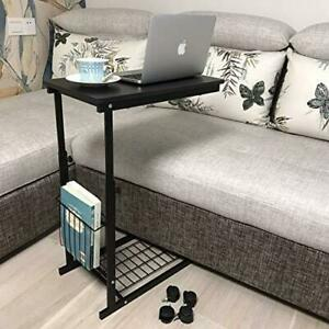 Micoe Sofa Side Table with Wheels Couch Table That Slide Under with Storage