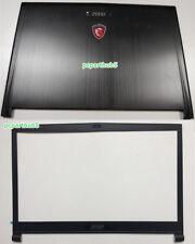 New MSI GS73 GS73VR MS-17B1 GS73VR 6RF Laptop LCD Back Cover & LCD Front Bezel