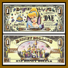 "Disney 1 Dollar, 2005 Series ""T"" Cinderella Disney Stores Uncirculated"
