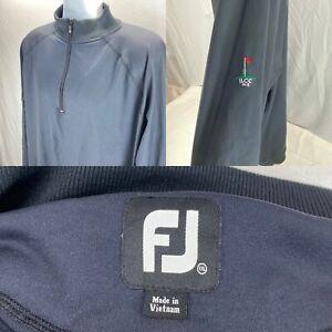 FOOTJOY Men's XXL Pullover Windbreaker Track Golf Jacket Quarter-Zip Logo Sleeve