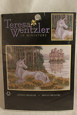 Teresa Wentzler In Miniature Gentle Creature Unicorn Castle 7x5 Cross Stitch Kit