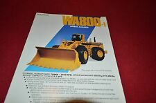Komatsu WA800 Wheel Loader Dealer's Brochure DCPA4 ver2