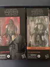 star wars black series 6 inch mandalorian beskar 2 Figure Lot