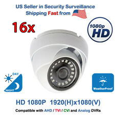 16 pcs. 1080p Cctv Security Cameras Day Night Vision Outdoor Indoor Tvi Ahd Cvi