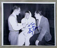 Rocky Castellani {1926-2008} Middleweight Boxer Signed 8x10 Photo COA