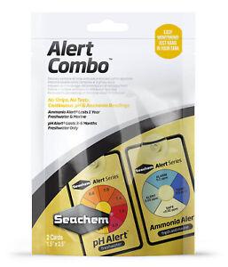 Seachem Alert Combo PH & AMMONIA Readings for SALTWATER or FRESHWATER Aquarium