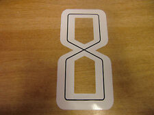 GUY MARTIN race number 8 - White & Black Sticker / Decal LARGE 200mm