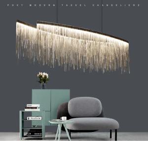 Aluminum Tassel Chain Chandelier LED Double Strip Art Ceiling Light Modern Lamp