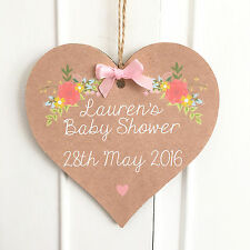 Baby Shower Gift Personalised Plaque New Mum Baby Girl Boy Keepsake Sign Present