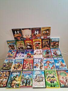 Joblot DVDs x30 Disney Dreamworks  Animated Classics Shrek Looney Tunes Ice Age