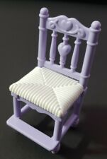 FISHER-PRICE LOVING FAMILY DOLLHOUSE FURNITURE DINING ROOM PURPLE CHAIR HAS STEP