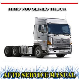 HINO 700 SERIES TRUCK WORKSHOP SERVICE REPAIR MANUAL ~ DVD