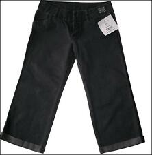 "BNWT Mujeres Diseñador OAKLEY 3/4 Jeans Pantalones Pantalones Nuevo W27"" UK8 Negro"