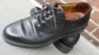 F. Toscani men's size 10.5 black Shoes Italian leather sole and lining oxfords