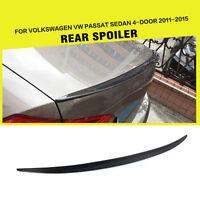 Rear Trunk Spoiler Wing  Fit for VW Passat USA Version B8 11-15 Carbon Fiber