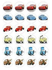 24 x Disney Cars Edible image cupcake toppers Pre-Cut