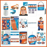 NERF Birthday Party Decorations Wall Backdrop Cutouts Vest Party Favors Supplies