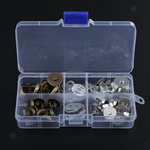 20pcs 14/18mm Magnetic Snap Fasteners Clasps Buttons For Handbag Craft Sewing