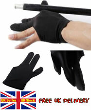 Pro Billiard Pool snooker Shooters 3 Fingers Glove Black better grip & game UK