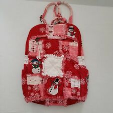 """Children's Holiday Snowman School Backpack Bookbag Cary-All 14""""x10"""""""
