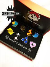 POKEMON 8 MEDAGLIE LEGA HOENN SPILLE rubino zaffiro smeraldo badges gym pin