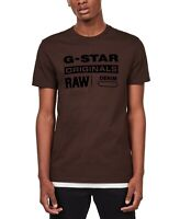 G Star Raw Mens T-Shirt Brown Size Small S Originals Logo Crewneck Tee $50 185
