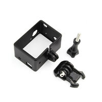 New Border Frame Mount Protector Shell for GoPro Hero 3 3+ 4 LCD BacPac Battery