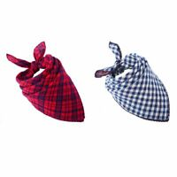 2 PACK Dog Bandana Scarf Pack - Triangle Bibs Reversible Kerchief Accessories