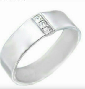 Men's Silver Plated Band Ring Unisex  Sizes 8,9,10,11.5,12 Fashion Ring