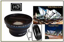 MK III HD Professional Fisheye Lens for Sony SAL-75300 75-300mm Lens