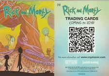 RICK AND MORTY PROMO CARD P8 CRYPTOZOIC 2018 SDCC EXCLUSIVE