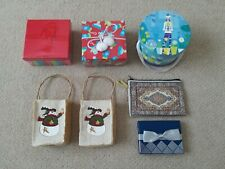 New Lot 7 Snowman Winter Floral Stripe Hat Mitten Bow Gift Card Boxes Bags Totes