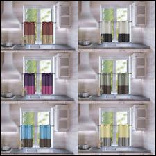 "2pc Short Kitchen Set 2-Tone Window Dressing Grommet Semisheer Curtain Heidi 36"""
