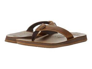 Men's Shoes Reef DRIFT CLASSIC Leather Flip Flop Sandals CI3680 BROWN