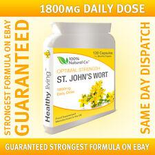 St Johns Wort - 120 Capsules - Strong Formula - Natural 1800mg Daily Serving