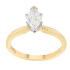 Anillos de joyería con diamantes naturales de oro amarillo diamante