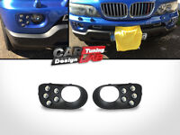 Direct-Fit Bumper LED DRL DayTime Fog Lights Cover for BMW X5 E53 00-06
