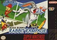 Bugs Bunny Rabbit Rampage - Nintendo SNES Game Authentic