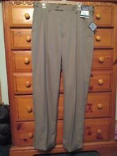 Mens MEETING STREET Micro-Fiber Comfort Waist Taupe Dress Pants Sz 34W X 32L NWT