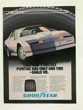 Goodyear Eagle VR Radial Pontiac Trans Am Vintage 1984 Print Ad