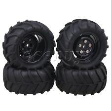 4pcs RC1:16 Largefoot Car Twig 85mm OD Rubber Tyres + Plastic 4-Hole Wheel Rims