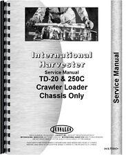 International Harvester 250c Td20c Crawler Service Manual Ih S Td20c