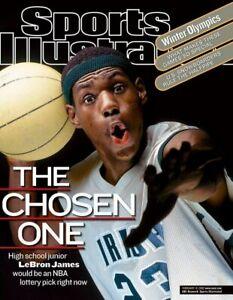 2002 Sports Illustrated > Lebron James > The Chosen One >5X NBA CHAMP🏆🏆🏆🏆🏆