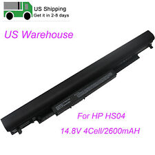 New Laptop HS04 HS03 Battery For HP 250 255 G4 15-BA042NR 807956-001 2600mAH US