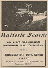 Z2208 Batterie per auto Dott. SCAINI - Pubblicità d'epoca - Advertising